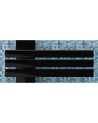 Дизайнерска лира за баня черна GUARDIAN L