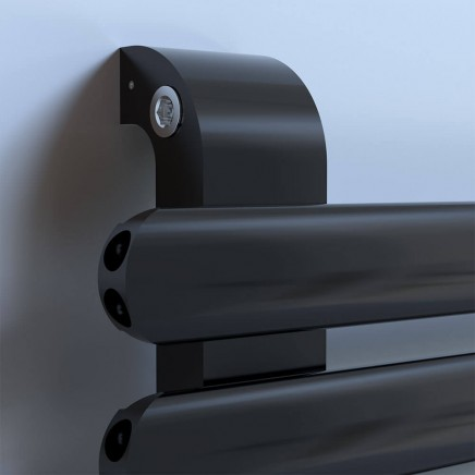 Лира за баня алуминиева SOUL 550 * 472 черна