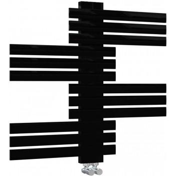 Дизайнреска черна Лира За Баня GUARDIAN 650 * 694
